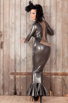 Latex Hobble Dress by Latexcrazy