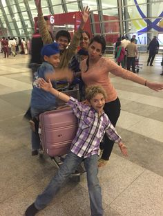Our family at New Delhi airport
