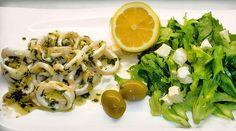 Low Carb Rezept - Tintenfischringe mit Knoblauch