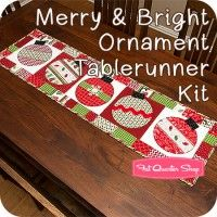 Merry & Bright Ornament Tablerunner KitFeaturing Merry & Bright by Kimberbell Designs