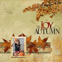 fall scrapbook layouts | Add an Autumn Glow to your Fall Digital Scrapbook Pages