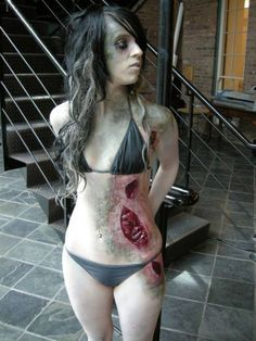 When it comes to Halloween costumes, you can't go wrong with zombies. Zombies are always popular, always scary, and (most importantly) always evolving. There are millions of different kinds of zombies Zombie Cosplay, Halloween Cosplay, Halloween Make Up, Halloween Costumes, Halloween Ideas, Zombie Costumes, Halloween Zombie, Halloween Queen, Zombie Party