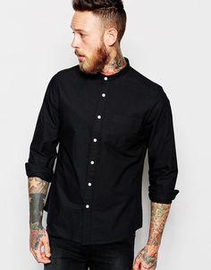 ASOS Oxford Shirt With Grandad Collar