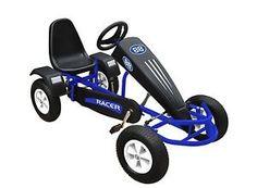 Velocità di Duplay Bambini Mega Grande Ride on Go Kart a pedali-Blu