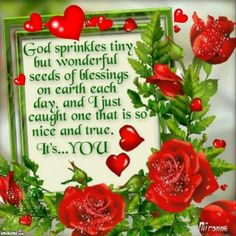 God sprinkles tiny but wonderful seeds