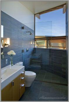 Graue fliesen auf pinterest - Badezimmer fenster glas ...