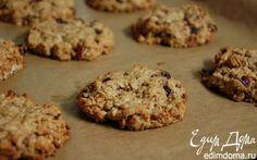 Овсяное печенье с пеканом и клюквой   | Кулинарные рецепты от «Едим дома!»