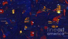 Title  City Night  Artist  RC deWinter  Medium  Painting - Digital Oils