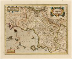 Henricus Hondius:  Terra di Lavoro olim Campania felix