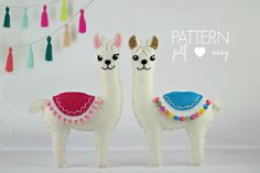 Meet Lulu & Leo Llama. Maisie Moos's new felt sewing pattern, now available in my Etsy shop. Thank you for all your help with the wonde...