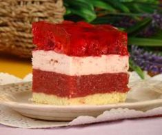 Ciasto ,,Truskawkowe pole'' pod galaretką Vanilla Cake, Ale, Cheesecake, Food And Drink, Recipes, Polish, Vitreous Enamel, Ale Beer, Cheesecakes