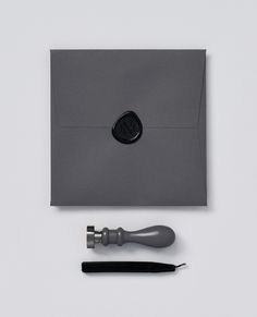 Self promotion idea. Yup, it can be just this simple to make a lasting impression. Black wax seal.