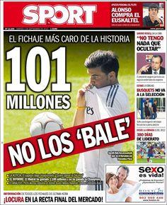 Los Titulares y Portadas de Noticias Destacadas Españolas del 3 de Septiembre de 2013 del Diario Sport ¿Que le pareció esta Portada de este Diario Español?