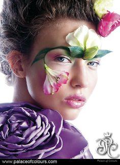 """FLOWER PRINCESS"" Photography from the album ""PALACE OF COLOURS. THE MAGIC OF MAKE-UP."" (www.palaceofcolours.com) photo & make-up: Dorota Kościukiewicz-Markowska"