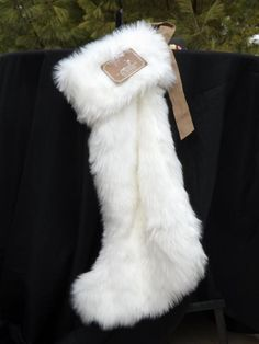 NWT Huge Nicole Miller Luxurious Faux Fur 27 Christmas Stocking