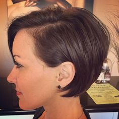 Nancy Vu-Ha - Hayward, CA, United States. Profile perfection. Long pixie. Short bob.