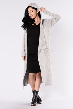 baf8b2d3ec5d1 Downhearted Duster Sweater - Heather Grey. fashionnova.com