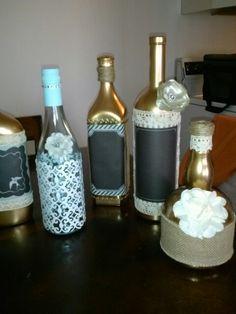 Vintage Bottles - Shabby Chic - Wedding DIY