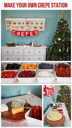crepe bar- a christmas brunch tradition - or anytime!
