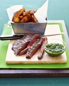 Based on chimichurri, a staple of Argentinean steakhouses, this zesty sauce can be served with just about any cut of meat. It is also great drizzled over roasted potatoes and other vegetables or stirred into rice or minestrone.