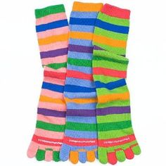 Little Miss Matched Multi Colored Striped Toes Socks ADULT 10+ Retired - Unique Creative Socks SOC-3P-T40051-A by RJ Quality Products. $13.99. This item is retired and available in limited quantities.You'll never think of socks the same way again! They come in packs of 3 so you can mix them and wear them in different combinations to make your own personal statement!