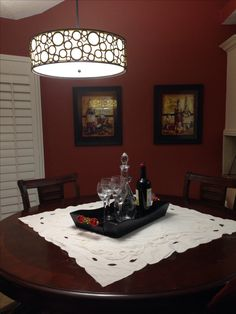 For the wine lovers, a wine themed kitchen!
