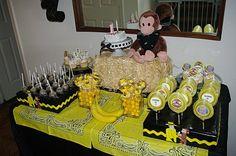 Curious George Party | via MaddyCakesMuse