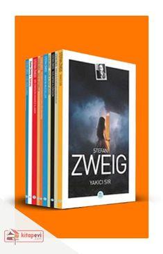 Stefan Zweig kitap setleri kitap severlerin kütüphanesinde olmazsa olmaz köşesinin en çok sık rastlanan elemanları. Stefan Zweig ilginç ve anlamlı hayatının yanı sıra bitmek bilmeyen üretim sevgisi, Dostoyevski ve  Freud hayranlığı ile tanınıyor. Stefan Zweig, Random Items, Store Design, Books, Libros, Book, Book Illustrations, Design Shop, Libri