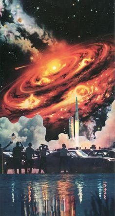 ' Space & Beyond '  Collage on paper  © Sammy Slabbinck 2012