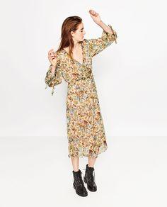Image 1 of PRINTED CREPE DRESS from Zara