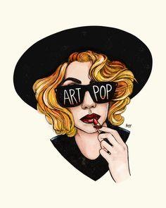 Illustration: Lady Gaga Art Pop ~ Illustration by Helen Green