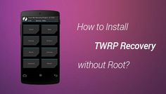 "Don't have a ""Recovery Mode"" or the option to ""Install zip from SD Card"" is Missing, then how could you be able to flash a custom rom? Here is a quick guide to Install TWRP recovery on your Android device. *No root required*"