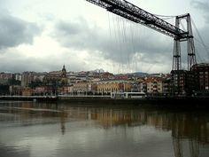 Puente colgante, Bilbo, Spain