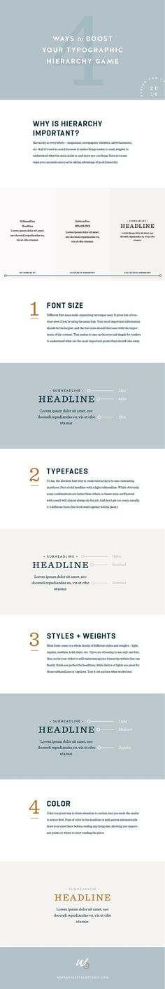 4 Ways to Boost Your Typographic Hierarchy Game #typography #design #graphicdesign #blogger #blogging #advice #tips #blog: