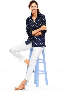 Just purchased this shirt and I love it! Talbots - Summer Dot Shirt | | MISSES