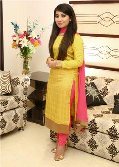 Preet Churidar Designs, Kurti Neck Designs, Kurta Designs Women, Kurti Designs Party Wear, Blouse Designs, Indian Fashion Dresses, Dress Indian Style, Pakistani Dresses, Indian Outfits