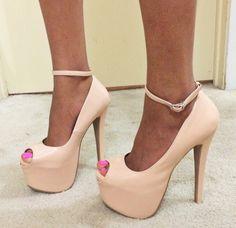pinkish -tan shoes