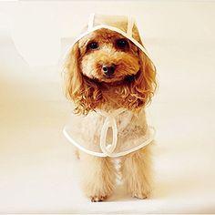 CUPET® Pet Raincoat, Waterproof Dog Puppy Coat Dog Poodle Pet Transparent Raincoat Rainwear Clothes Dress (M) - http://www.thepuppy.org/cupet-pet-raincoat-waterproof-dog-puppy-coat-dog-poodle-pet-transparent-raincoat-rainwear-clothes-dress-m/