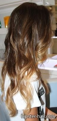 brown ombre long curly hair