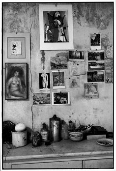 Magnum Photos -  Henri Cartier-Bresson View profile FRANCE. Alpes-Maritimes. Le Cannet. 1944. The studio of French painter Pierre BONNARD.