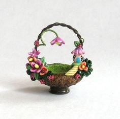 Miniature Fairy Blossom House & Flower by ArtisticSpirit on Etsy