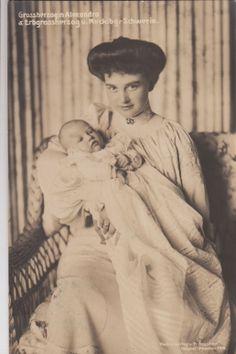 Großherzogin Alexandra v Mecklenburg Schwerin Prinzessin Hannover m Sohn 1910