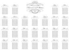 Simple But Elegant  Table Plan Seating Chart Scroll  Table Plan