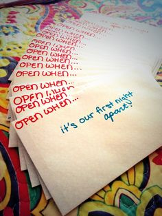 """Open When"" Ideas for Long Distance Relationships"