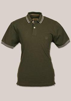 08575f798a83 CAMEL Active Poloshirt Halbarm geknöpft Pique olive 128286 74BR Camel,  Pique, Camels