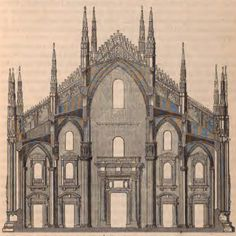 Section of the Cathedral of Milano