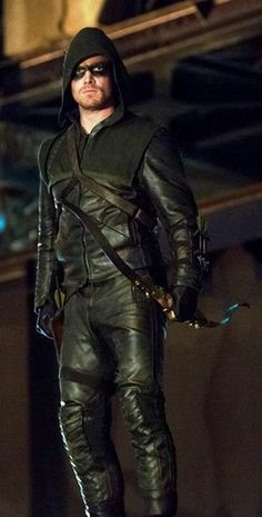 Arrow (Stephen Amell) - Arrow (TV series) - Wikipedia, the free encyclopedia Arrow Cosplay, Arrow Costume, Colin Donnell, Green Arrow Hoodie, Oliver Queen Arrow, Dc Comics, Arrow Tv Series, Stephen Amell Arrow, Cw Dc