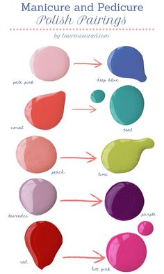 Nail Polish pairings. Good advice, I always wonder what colors I could combine/pair.