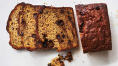 :: Martha Stewart Test Kitchen's Favorite Banana Bread - Freezing and thawing over-ripe bananas before mashing creates a syrupy-thick juice, more like liquid gold, that bursts with sweet banana flavor and makes this loaf next-level delicious. Chocolate Chip Banana Bread, Chocolate Chip Recipes, Banana Bread Recipes, Chocolate Chip Cookies, Chocolate Chips, Buttermilk Recipes, Baking Recipes, Dessert Recipes, Party Desserts