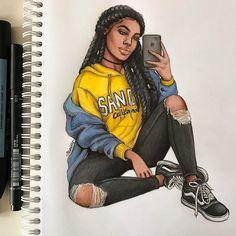 "1,952 curtidas, 8 comentários - Natalia Madej (@nataliamadej) no Instagram: ""Spring vibes #fashionsketch #fashiondrawing #fashionillustration #drawing #illustration #art…"""